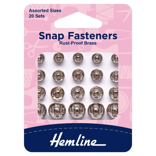 Nickle Snap Fasteners (Multi Pack)