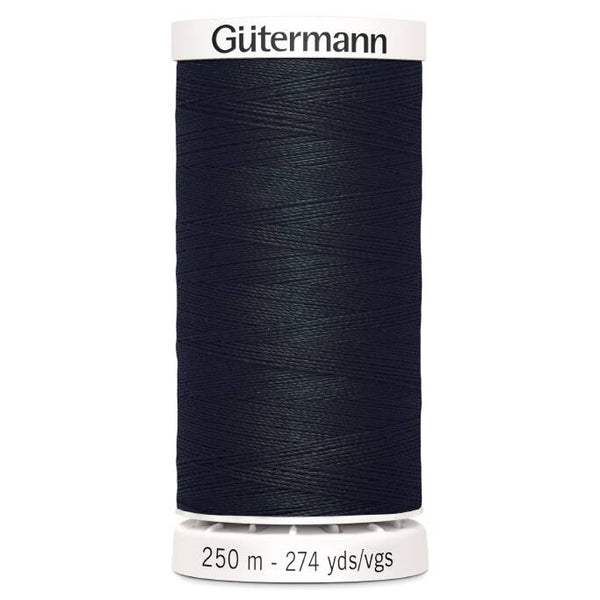 Black Sew-All Thread (250m)