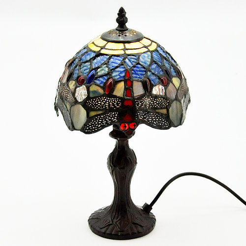 Tiffany lamp blue dragonfly (7532)