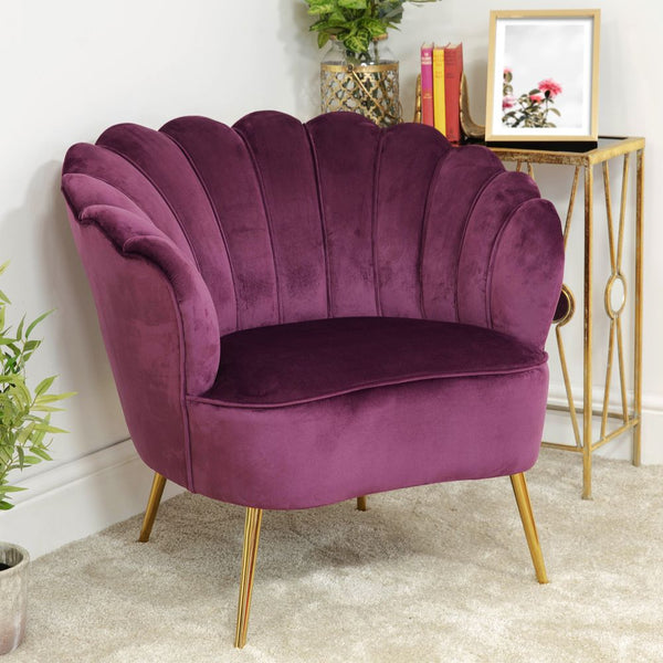 Velvet cocktail occasional chair - Mulburry