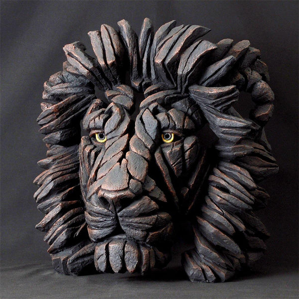 Black lion bust Limited Edition Edge Sculpture