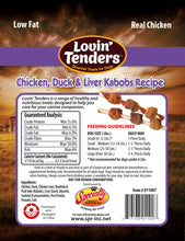 Load image into Gallery viewer, Lovin' Tenders - 16oz Chicken, Duck, &  Liver Kabobs, $11.99 Bag (Cs: 6 Bags)