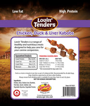 Load image into Gallery viewer, Lovin' Tenders - 7oz Chicken, Duck, & Liver Kabobs, $6.50 Bag (Cs: 6 Bags)