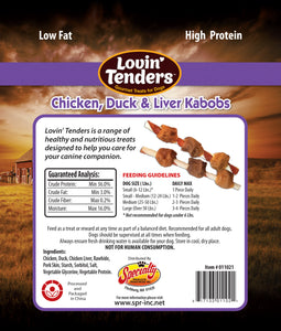 Lovin' Tenders Chicken, Duck, & Liver Kabobs Premium Dog Treats, 7-oz. bag