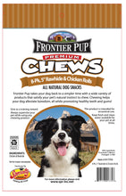 Load image into Gallery viewer, FRONTIER PUP CHEWS - 5'' Chicken & Rawhide Rolls 8-Pk, $6.50 Bag (Cs: 6 Bags)