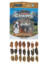 Load image into Gallery viewer, FRONTIER PUP CHEWS - 5'' Chicken, Liver & Sweet Potato Kabobs 10-Pk
