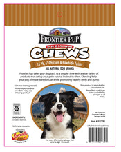 Load image into Gallery viewer, FRONTIER PUP CHEWS - 5'' Chicken and Rawhide Twists 15-Pk, $6.50 Bag (Cs: 6 Bags)