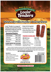 Emerald Isle Lovin' Tenders - 7oz Turkey with Pumpkin and Cranberry Flavors, $6.50 Bag (Cs: 6 Bags)