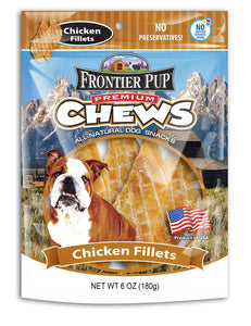 FRONTIER PUP CHEWS  - 6oz USA Chicken Breast Fillets
