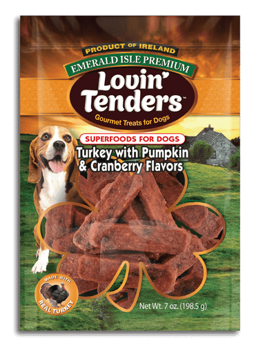 Emerald Isle Lovin' Tenders - 7oz Turkey with Pumpkin and Cranberry Flavors