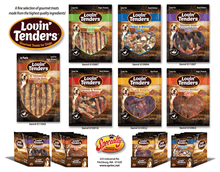 Load image into Gallery viewer, Lovin' Tenders Chicken, Duck, & Liver Kabobs Premium Dog Treats, 7-oz. bag