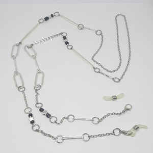 Face mask/Glasses necklace navy