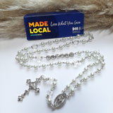 Personalised White Pearl Rosary Beads