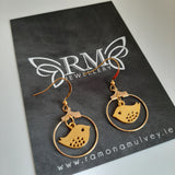 Little gold bird earrings
