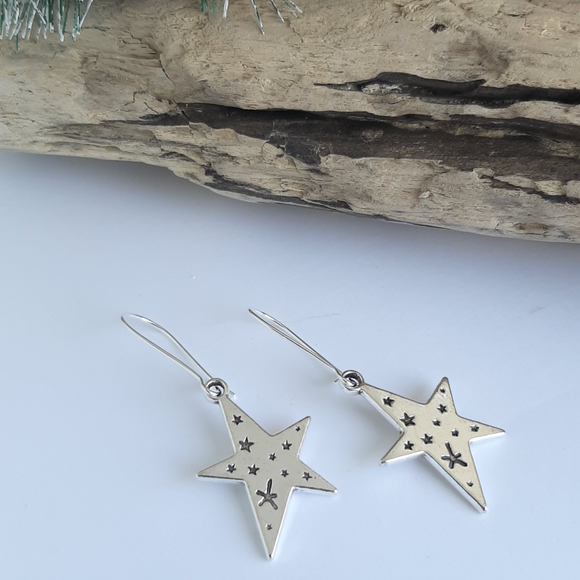 Starry star earrings