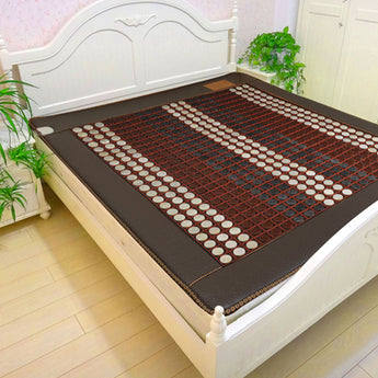 2018 Korea Health heating jade mattress far infrared jade heating cushion thermal tourmaline mat Free Gift eye cover