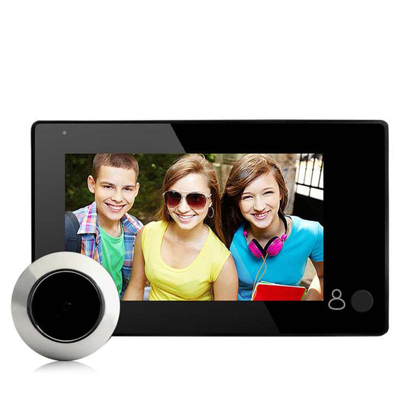 "4.3"" HD Door Peephole Viewer 145 Degree Wide Angle Digital Smart Doorbell TFT Color Door Eye 2MP Home Security Camera Monitor"