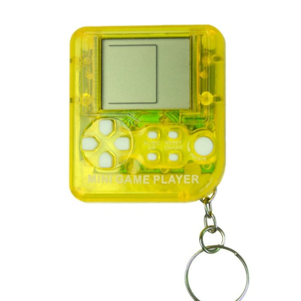 Kids Handheld Classic Games Machine With Keychain Ring Retro Tetris Game Box Mini Key Chain
