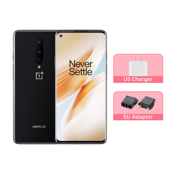 OnePlus 8 5G Smartphone Snapdragon 865 Octa Core 6.55'' 90Hz AMOLED Screen 48MP Triple Cams 4300mAh Warp Charge 30T