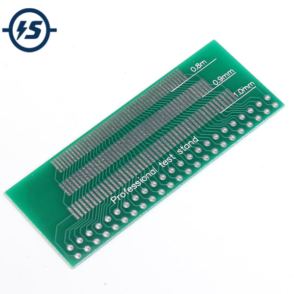 10pcs Adapter Board PCB Plate Pinboard Electronic Components Training 46PIN 46-Pin 0.8mm 0.9mm 1.0mm 1.1mm 1.2mm 1.3mm Pin Space