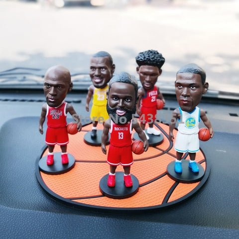 10cm Sport Player figures Basketball Star Toy Figures Collectible Model car decorations toy Small Gift Doll