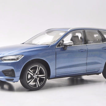 1:18 Diecast Model for Volvo XC60 Sport XC 2018 Blue SUV Alloy Toy Car Miniature Collection Gifts XC 60
