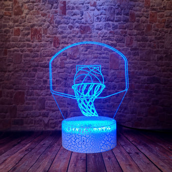 Flash 3D Illusion LED Desk Nightlight Colorful Changing Light Model Basketball Sport Light-up Toys Holiday gift