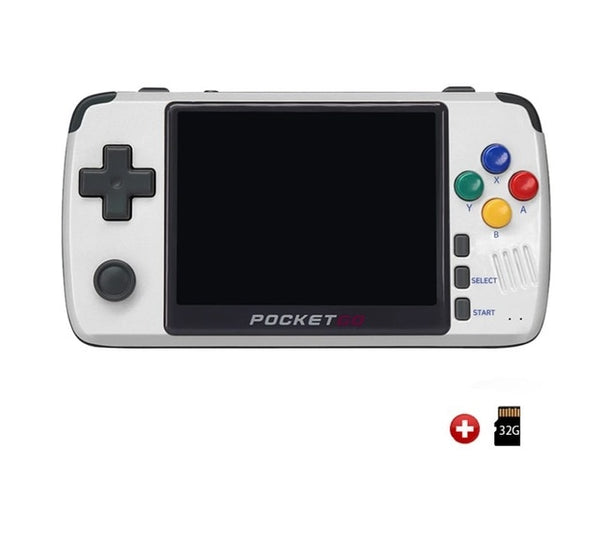 New PocketGo Retro Game Console 3.5inch IPS screen Video Game Player PG2 Handheld Gaming Console PS1/SNES NPG Game Machine Box
