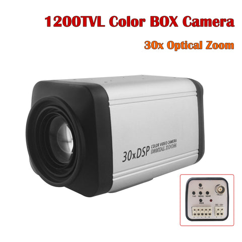 NEOCoolcam 1200TVL Color Box Analog Security Camera Auto Focus 30X Optical Zoom CCTV Camera