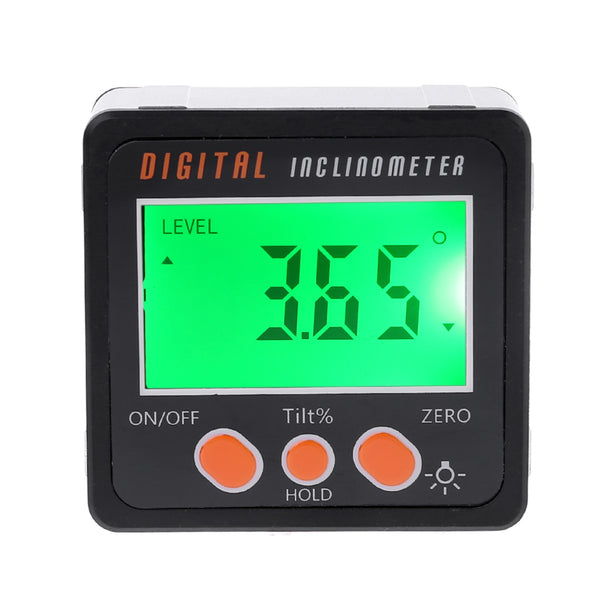 Digital Inclinometer Electronic Protractor Aluminum Alloy Shell Bevel Box Angle Gauge Meter Measuring tool