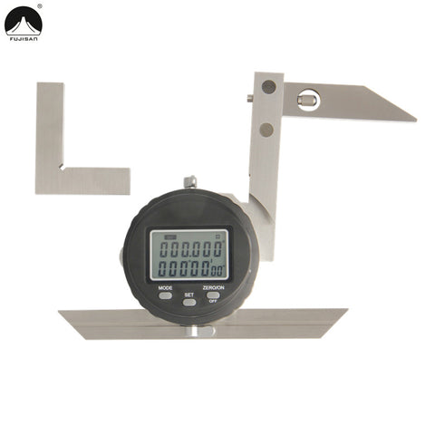 FUJISAN Digital Protractor Ruler 0-360Degree Angle Ruler Protractor Goniometer Gauge Angle Finder Woodworking Measure Tools