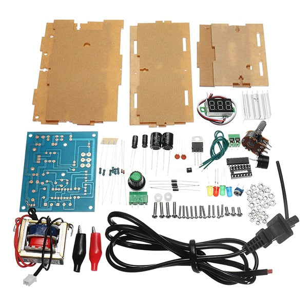 DIY AC 220V to DC 1.25V-12V LM317 Adjustable Voltage Power Supply Moudle DIY Kit Electronic Production Power Supply DIY Kits
