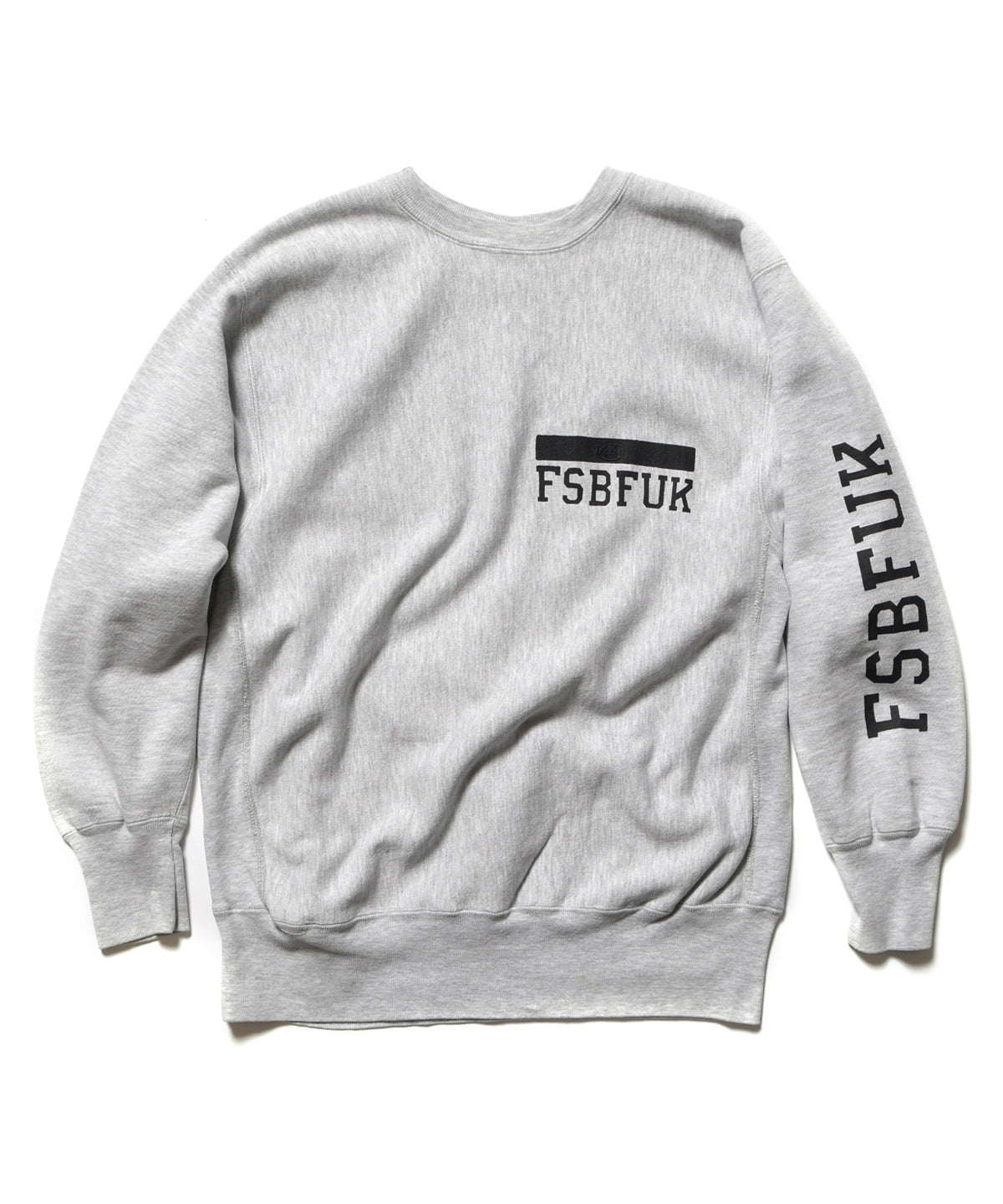 "KIYONAGA&CO. x UA&SONS x FUJITO ""FSBFUK"" RE-MAKE CREWNECK SWEAT"