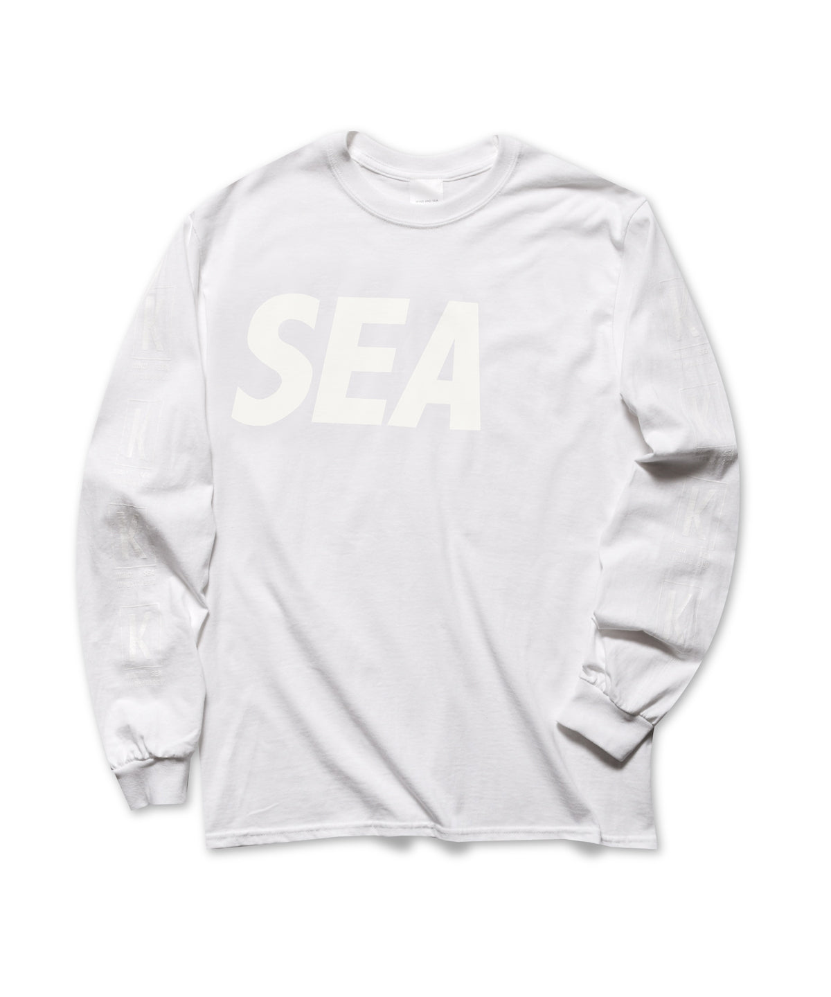 SEA WIND AND SLEEVE BOX LOGO L/S TEE