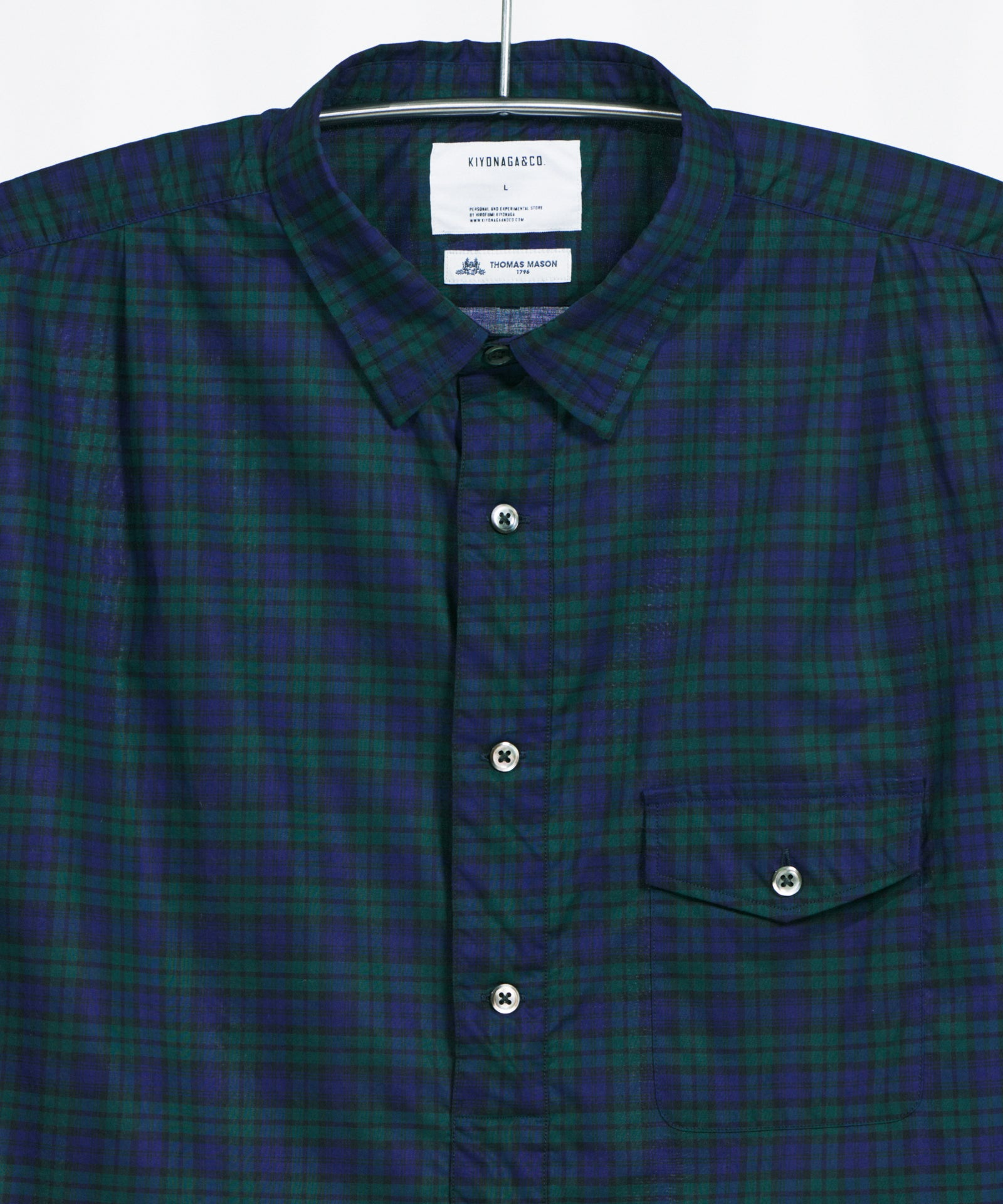 THOMAS MASON CHECK PULLOVER LONG SHIRT - A