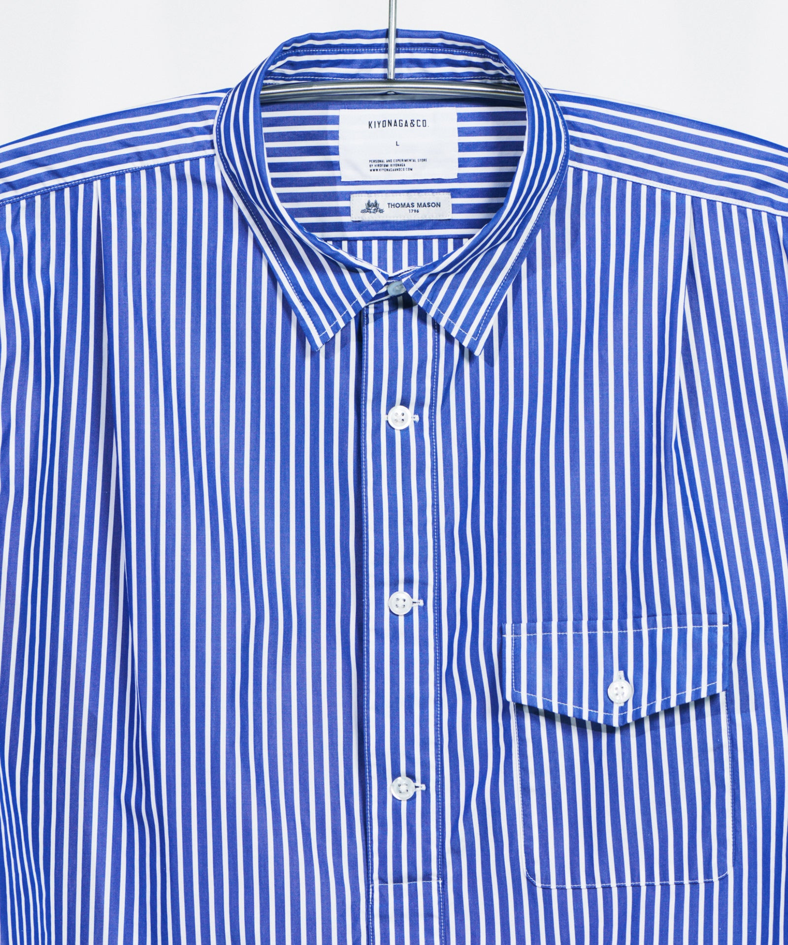 THOMAS MASON STRIPE PULLOVER LONG SHIRT - B