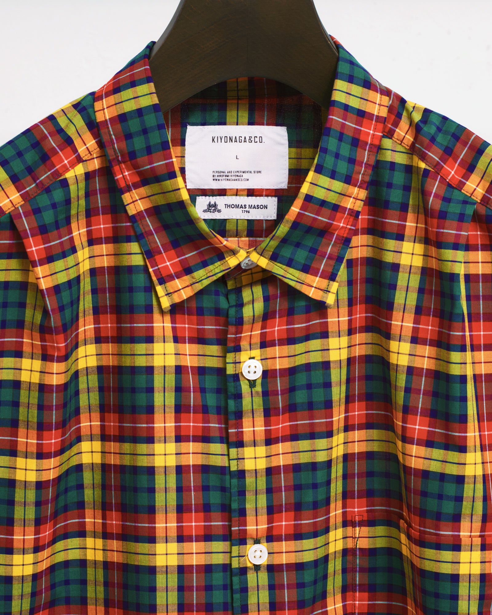 THOMAS MASON CHECK BIG SHIRT