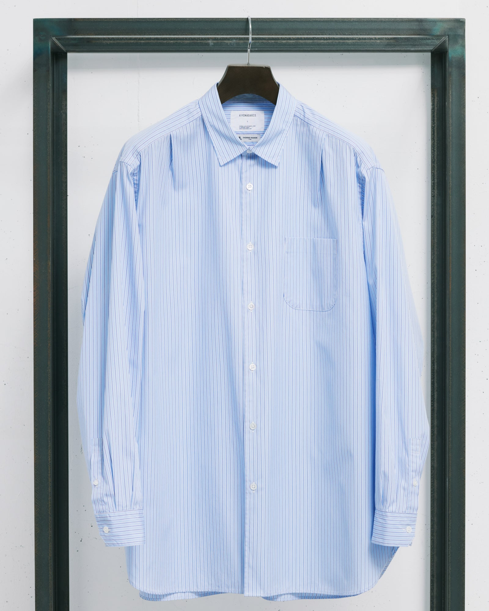 THOMAS MASON STRIPE BIG SHIRT