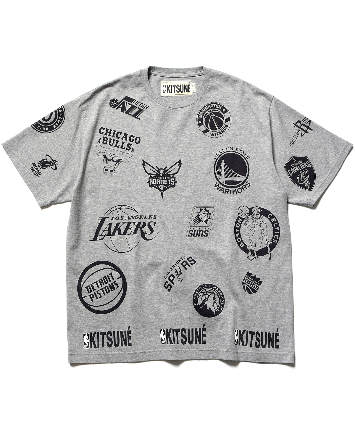 MAISON KITSUNÉ x NBA ALL-OVER TEE