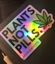 Load image into Gallery viewer, Holographics Plants Not Pills Sticker