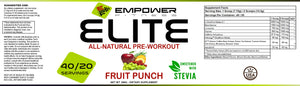 Elite Natural Pre-Workout