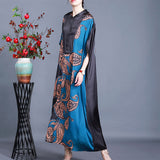 Summer new product Tencel printed dress loose plus size long skirt