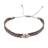 Spanish vintage palace pattern hand rope simple bohemian ethnic style diamond Fatima eye bracelet