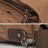 Large capacity canvas briefcase