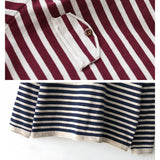 Autumn and winter loose fake two-piece sweater V-neck striped long-sleeved T-shirt