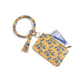 PU wrist keychain card holder