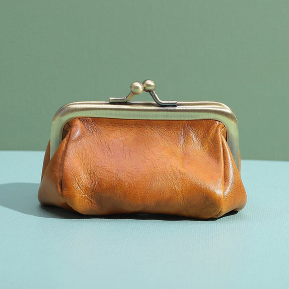 Vintage mini leather purse