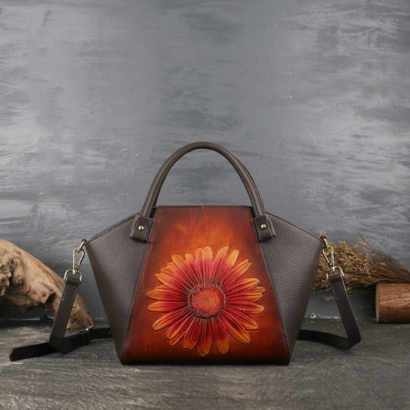 Contrast floral pattern tote bag