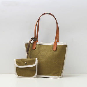 Simple and versatile canvas tote bag