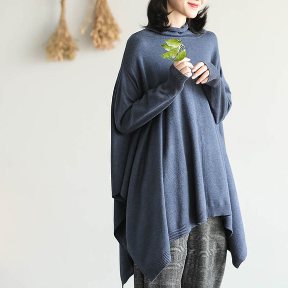 Irregular hem sweater